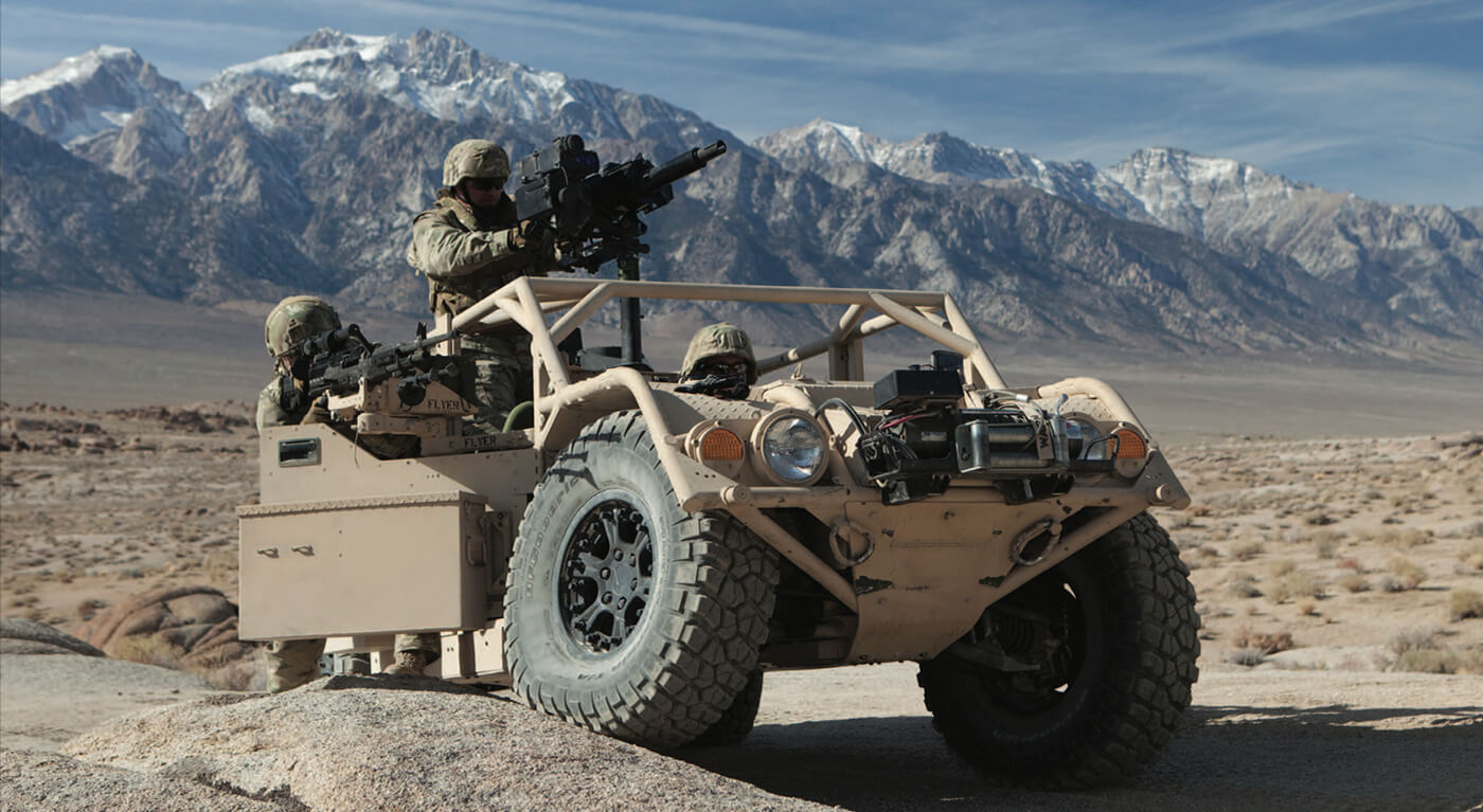 Flyer lightweight tactical vehicle